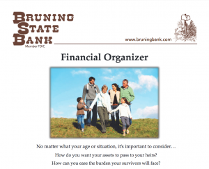 Financial Organizer Document Cover