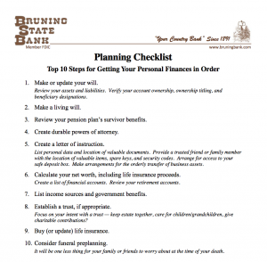 Planning Checklist Document Cover