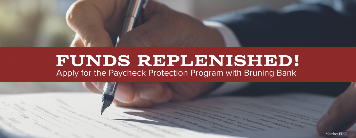 Paycheck Protection Program funds replenished